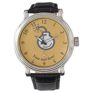 Icono de la bomba reloj de pulsera