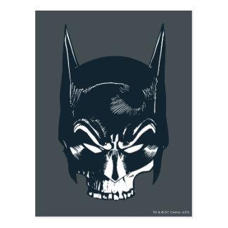 Icono de la capucha/del cráneo de Batman Postal