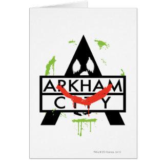 Icono de la ciudad de Arkham con las marcas 2 del  Tarjeta De Felicitación