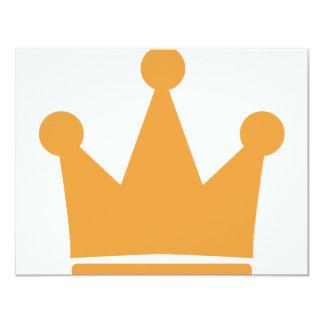 icono de la corona del fiesta invitación 10,8 x 13,9 cm