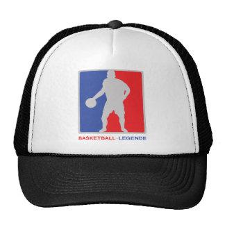 icono de la leyenda del baloncesto del rojo azul gorro de camionero