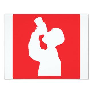 icono de la liga del alcohol invitación 10,8 x 13,9 cm