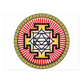 Icono de la mandala tarjeta postal