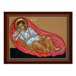 Icono de la tarjeta Unsleeping del rezo del ojo Postal