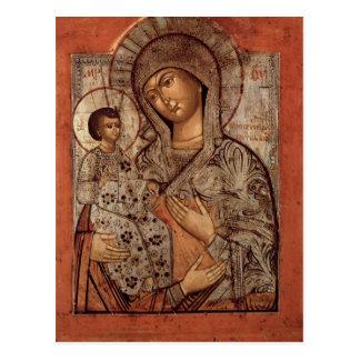Icono de la Virgen bendecida con tres manos Postal