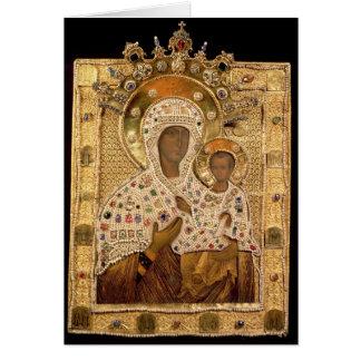 Icono de la Virgen, monasterio de Smolenskaja Tarjeton