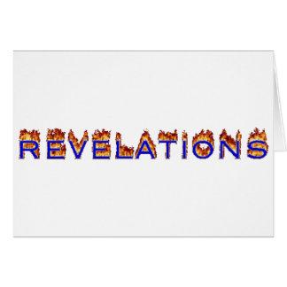 Icono de las revelaciones (fuego) tarjeta de felicitación
