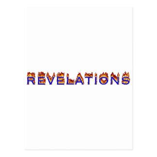 Icono de las revelaciones (fuego) postal