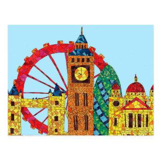 Icono de Londres que construye Mozaic Postal