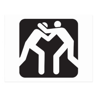 Icono de los luchadores postal