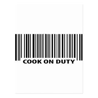 icono de servicio del cocinero tarjeta postal