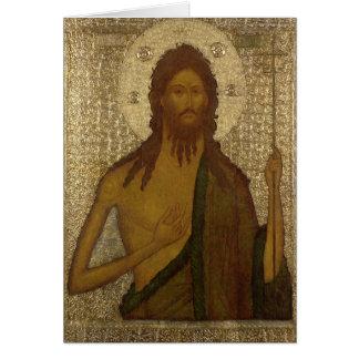 Icono de St. John el precursor Felicitacion