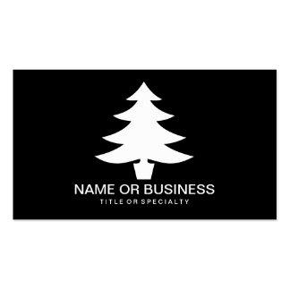 icono del árbol de navidad tarjetas de visita