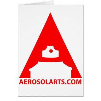 """Icono del arte """"A"""" del aerosol Tarjeta De Felicitación"""