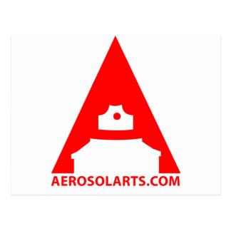 """Icono del arte """"A"""" del aerosol Tarjetas Postales"""