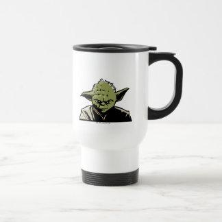 Icono del arte de Yoda Taza Térmica