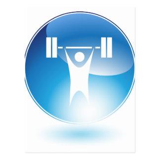 Icono del botón del hombre del ejercicio del postal