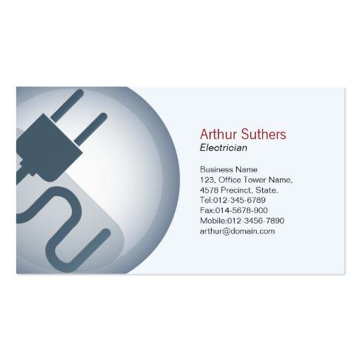 Icono del cable eléctrico de la tarjeta de visita