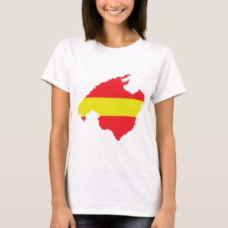 icono del contorno de la bandera del malle camiseta