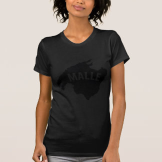 icono del contorno del malle camisetas