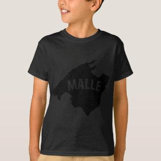 icono del contorno del malle camiseta