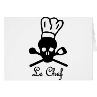 icono del cráneo de le chef felicitación