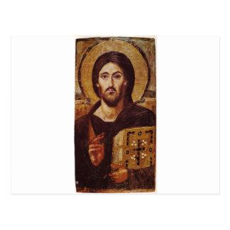 Icono del cristiano de Pantocrator del Jesucristo Postal