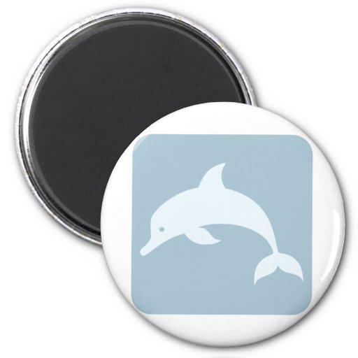 Icono del delfín de Bottlenose Iman De Frigorífico