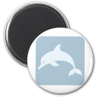 Icono del delfín de Bottlenose Imán Redondo 5 Cm