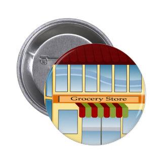 Icono del edificio de colmado chapa redonda 5 cm