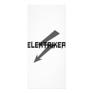 icono del elektriker tarjeta publicitaria