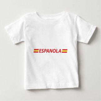 icono del espanola camiseta de bebé