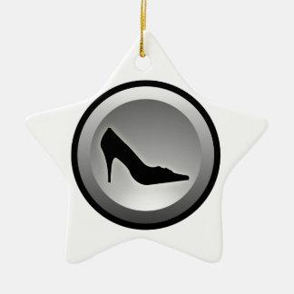 Icono del estilo con la silueta del zapato ornaments para arbol de navidad