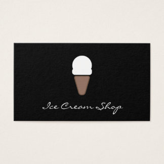 Icono del helado tarjeta de negocios