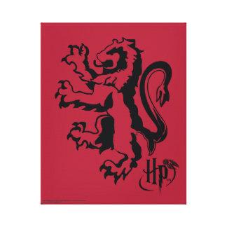 Icono del león de Harry Potter el   Gryffindor Impresión En Lienzo