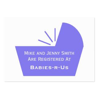 Icono del pesebre del bebé tarjetas de visita grandes