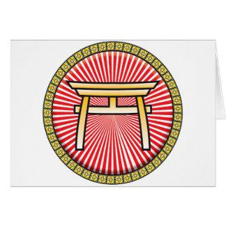 Icono del Shintoism Felicitaciones