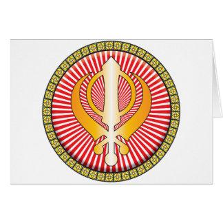 Icono del Sikhism Tarjeton