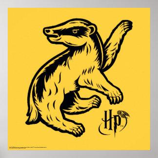 Icono del tejón de Harry Potter el   Hufflepuff Póster
