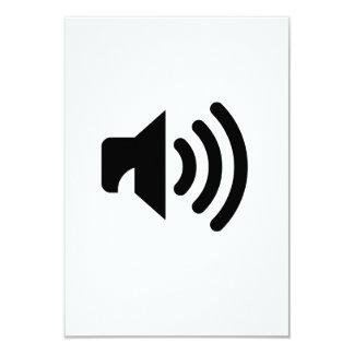Icono del volumen invitacion personalizada