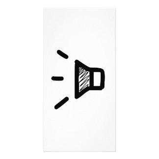 Icono del volumen tarjeta con foto personalizada