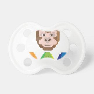 Icono estilizado del mono chupetes de bebé