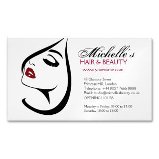 Icono largo del maquillaje de las pestañas de los tarjetas de visita magnéticas