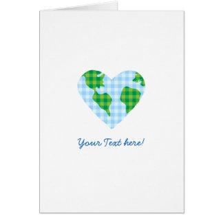 Icono lindo del dibujo animado del corazón de la tarjeta de felicitación