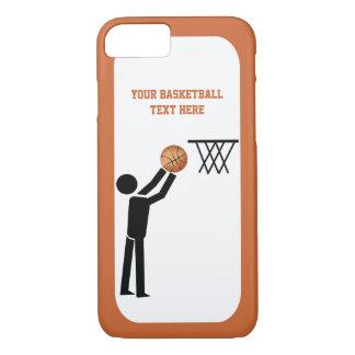 Icono negro del jugador de básquet con funda iPhone 7