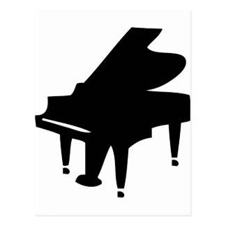 icono negro del piano postal