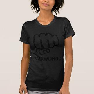 icono negro del Taekwondo Camisetas