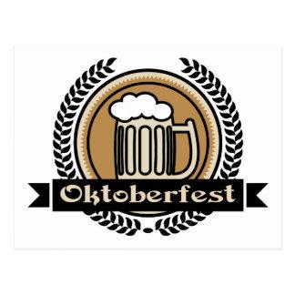 Icono o etiqueta de la cerveza de Oktoberfest Postal