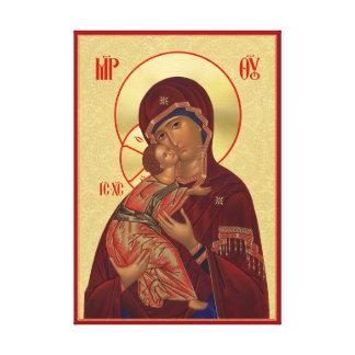 Icono ortodoxo - madre de Vladimir de dios Lienzo