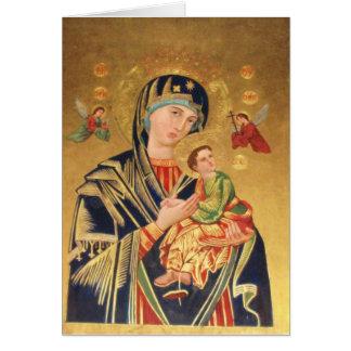 Icono ortodoxo ruso - Virgen María y bebé Jesús Tarjeta De Felicitación